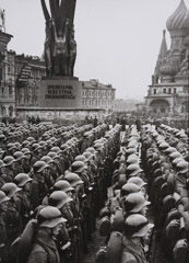 Mark Markov-Grinberg  -  Formation of Red Square, 1940s / Silver Gelatin Print  -  16 x 11.25