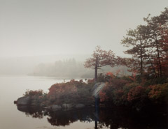 Robert Glenn Ketchum  -  Foggy Dawn at Pine Meadow Lake, 1982 / Cibachrome Print  -  24 x 30