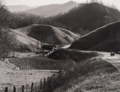 Tim Barnwell  -  Rolling Hills and Truck, Paint Fork, Yancey County, NC, 1988 / Silver Gelatin Print  -  16 x 20