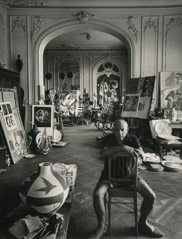 Arnold Newman  -  Pablo Picasso, Cannes, France, 1956 / Silver Gelatin Print  -  9.75 x 7.5