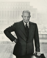 Arnold Newman  -  Dwight D. Eisenhower, New York, NY, 1950 / Silver Gelatin Print  -  9.5 x 7.5 (8 x 10)