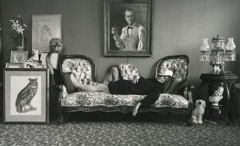 Arnold Newman  -  Truman Capote, New York City, NY, 1977 / Silver Gelatin Print  -  8.25 x 13
