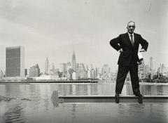 Arnold Newman  -  Robert Moses, New York City, NY, 1959,  / Silver Gelatin Print  -  9.5 x 12.25