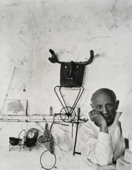 Arnold Newman  -  Pablo Picasso, Vallauris, France, 1954 / Silver Gelatin Print  -  12.75 x 10