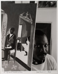 Arnold Newman  -  Jacob Lawrence, Brooklyn, NY, 1959 / Silver Gelatin Print  -  10 x 13