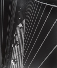 John Gutmann  -  From the North Tower of the Golden Gate Bridge, San Francisco, 1947  / Silver Gelatin Print  -  11 x 14