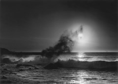 Pirkle Jones  -  Sun and Wave, 1952 / at Bob's house  -  27 x 39  (frame size 38 x 49)