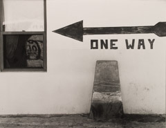 Arnold Newman  -  One Way, West Palm Beach, FL, 1941 / Silver Gelatin Print  -  8 x 10