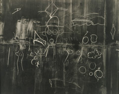 Walker Evans  -  Chalk Drawing, 1938 / Silver Gelatin Print  -  7.5 x 9.5
