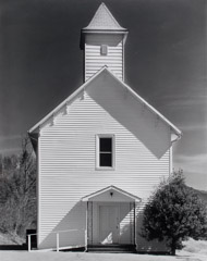 Tim Barnwell  -  Paint Fork Baptist Church, Paint Fork, Madison County, NC , 2002 / Silver Gelatin Print  -  19.5 x 15.5