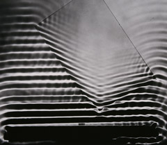 Berenice Abbott  -  Wave Pattern with Glass Plate, Cambridge MA, c. 1958 / Silver Gelatin Print  -  16 x 20