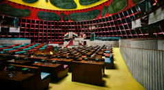 Richard Pare  -  Interior, Assembly Chamber, Chandigarh (2012) / Chromogenic Print  -  Available in Multiple Sizes