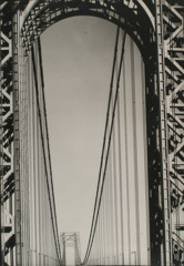 Margaret Bourke-White  -  George Washington Bridge, New York City, 1933 / Silver Gelatin Print  -  19 x 14