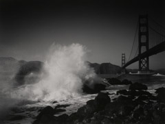 Pirkle Jones  -  Breaking Wave, Golden Gate, San Francisco, 1952 / Silver Gelatin Print  -  11 x 14
