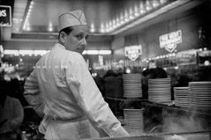 Harold Feinstein  -  Grant's Counter Man, 1974 / Silver Gelatin Print  -  available in multiple sizes