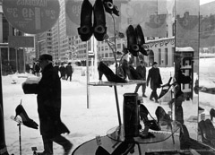 Harold Feinstein  -  Shoe Store Window / Silver Gelatin Print  -  available in multiple sizes