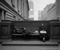 Harold Feinstein  -  Sharing a Public Bench, 1949 / Silver Gelatin Print  -  available in multiple sizes