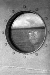 Harold Feinstein  -  View From Porthole, 1952 / Silver Gelatin Print  -  16 x 20