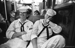 Harold Feinstein  -  Sailors on the Subway, 1952 / Silver Gelatin Print  -  11 x 14