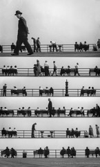 Harold Feinstein  -  Boardwalk Sheet Music Montage, 1950 / Silver Gelatin Print  -  16 x 20