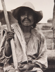 Paul Strand  -  Man with a Hoe, Los Remedios, 1933 / Photogravure  -  6.5 x 5