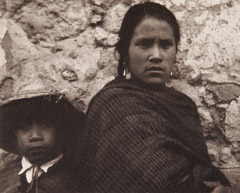 Paul Strand  -  Young Woman and Boy, Toluca, 1933 / Photogravure  -  5 x 6.25