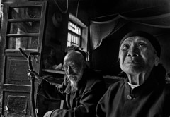 Zeng Yi  -  Keep You Company Till the End of the World, 白头偕老, Shandong, 2007 / Pigment Print  -  10.5