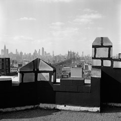 Vivian Maier  -  New York, February 9, 1953 (roof top) / Silver Gelatin Print  -  12 x 12 (on 16x20 paper)
