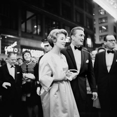 Vivian Maier  -  Kirk Douglas at the premiere of the movie