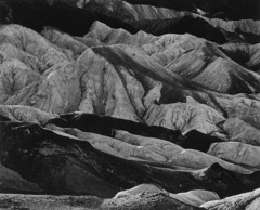Brett Weston  -  Zabriskie Point, 1971 / Silver Gelatin Print  -  7.5 x 9.5