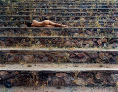Cole Weston  -  Nude on Steps, Arizona, 1979 / Cibachrome Print  -  15.5 x 20