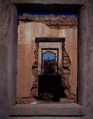 Cole Weston  -  Windows, Swansea, Arizona, 1993 / Cibachrome Print  -  15 x 19.25