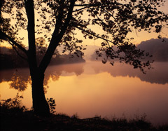 Tim Barnwell  -  Sunrise Beaver Lake, Western NC / Pigment Print  -  Available in Multiple Sizes