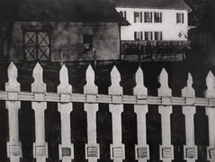 Paul Strand  -  The White Fence, Port Kent NY, 1915 / Photogravure  -  9.5 x 12.75