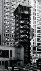 John Gutmann  -  Elevator Garage with Parking Lot, Chicago, 1936 / Silver Gelatin Print  -  11 x 14