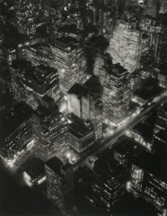 Berenice Abbott  -  Nightview, New York, 1932 / Edition size 125 - #29  -  12.5 x 10 (on 19x15 Somerset Satin cotton rag paper)Edition Size 125