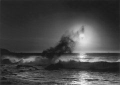 Pirkle Jones  -  Sun and Wave, 1952 / Silver Gelatin Print  -  27 x 39  (frame size 38 x 49)