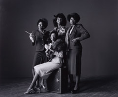 Herb Greene  -  Pointer Sisters / Silver Gelatin Print  -  15.5 x 19
