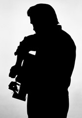 Al Clayton  -  Johnny Cash (silhouette) / Pigment Print  -  Available in multiple sizes