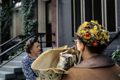 Vivian Maier  -  Chicago, 1962, (flower hat) / Chromogenic Print  -  10 x 15 on 16 x20 paper
