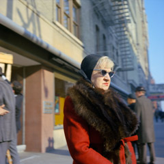 Vivian Maier  -  Milwaukee, 1967 (woman sunglasses) / Chromogenic Print  -  12 x 12 on 16 x20 paper