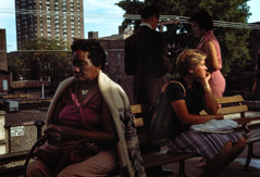 Vivian Maier  -  Chicago, 1977 (women on bench) / Chromogenic Print  -  10 x 15 on 16 x20 paper