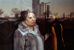Vivian Maier  -  Chicago, March 1979, (woman/reflection) / Chromogenic Print  -  10 x 15 on 16 x20 paper