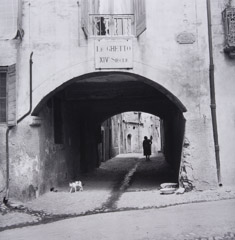 Jules Aarons  -  14th Century Ghetto, France / Silver Gelatin Print  -  9 x 9