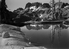 Philip Hyde  -  The Minarets From Tarn Above Lake Ediza, now Ansel Adams Wilderness, California, 1950 / Pigment Print  -  Available in multiple sizes