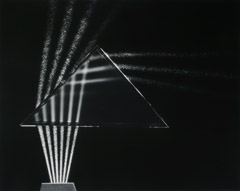 Berenice Abbott  -  Light Rays Through Prism, Cambridge, MA, c. 1958 / Silver Gelatin Print  -  16 x 20