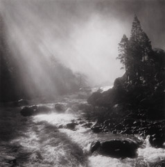 Bob Kolbrener  -  Base of Nevada Fall, Yosemite National Park, CA, 1981 / Silver Gelatin Print  -