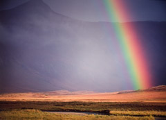 Robert Glenn Ketchum  -  Noatak Rainbow, 1997 / Cibachrome Print  -  17.25 x 23.25 on 20 x 24