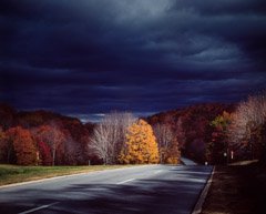 Robert Glenn Ketchum  -  The Teconic Parkway, North to Albany #27, 1983 / Cibachrome Print  -  18.75 x 23.25 on 20 x 24