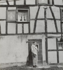 Imogen Cunningham  -  August Sander and His House, 1960 / Silver Gelatin Print  -  11.5 x 10.25
